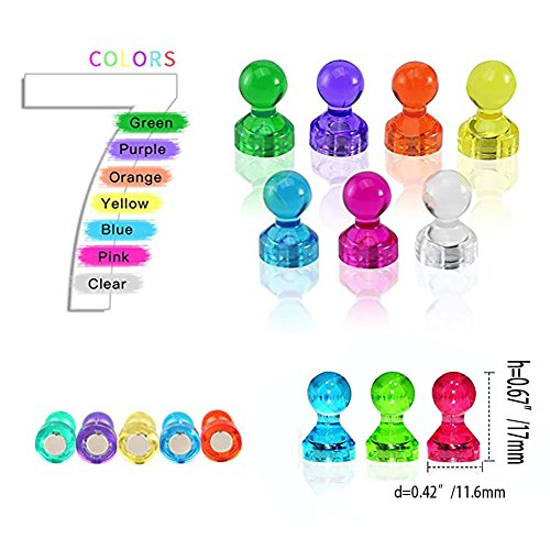 Desk Accessories & Organizer 80pcs Colorful Transparent Push Pins Clear Plastic Mini Thumb Tacks In Reusable Acrylic Box For Office Home Boards Decoration High Quality Clip Holder & Clip Dispenser