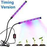 Bchway Dual-lamp Grow Light 36LEDs 3 Modes Timer(3H/6H/12H) Dimmable 4 Levels Plant Grow Lamp Lights with 360 Degree Flexible Gooseneck Indoor Home Office Plants Hydroponics Greenhouse Gardening