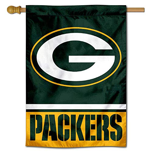 (WinCraft Green Bay Packers Two Sided House Flag )