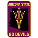 WinCraft Arizona State Sun Devils Official NCAA 11'' x 17'' Plastic Wall Sign 11x17 by 572486