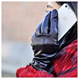 iGT CLASS Women's Touch Screen Winter Texting Leather Gloves Black Small
