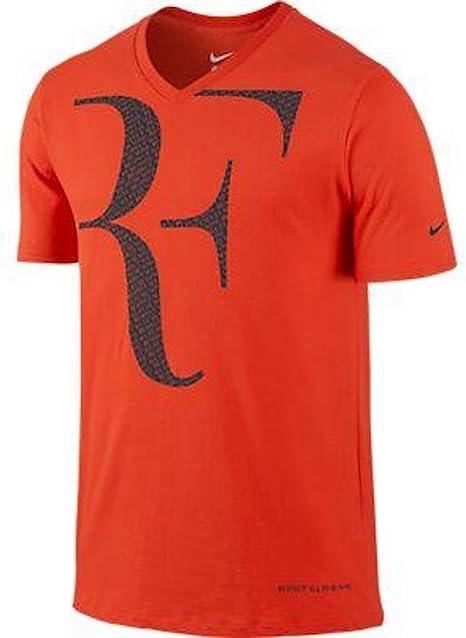 Nike Premier RF Roger Federer camiseta naranja - XL: Amazon.es ...