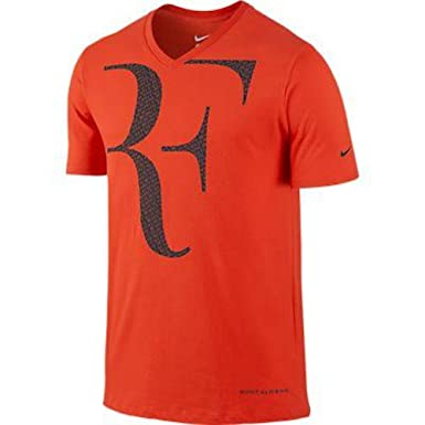 5005850eb9205 Nike Premier RF Roger Federer Tee Shirt Orange - XL: Amazon.co.uk ...
