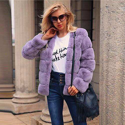 Per Donna Outwear Porpora Lungo Trench Calda Sintetica Elegante Jacket Caldo Cardigan Pelliccia Elecenty In Cappotto Mantieni 108F0qf