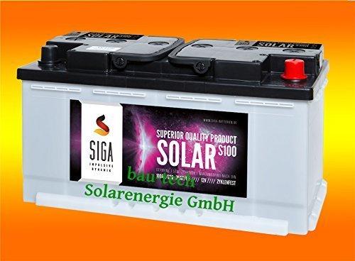 100Ah AGM Solarbatterie AKKU für Photovoltaik, Insel oder Solar Anlagen