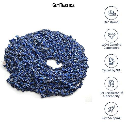 Lapis Lazuli Blue Chip (Single Starnd Natural Denim Lapis Chip Beads, 34 Inch Full Strand, Wholesale Price (CHLP-70001))