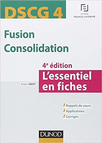 Amazon Fr Dscg 4 Fusion Consolidation 4e Ed L
