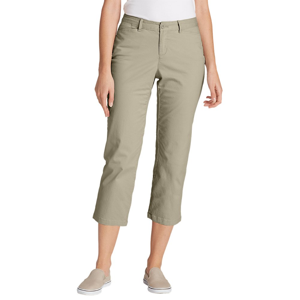 Eddie Bauer Women's Legend Wash Stretch Cropped Pants - Curvy Fit, Cloud Petite