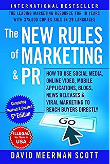 the new rules of marketing and pr how to text only 2 edition by dmscott