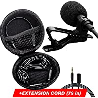 Lavalier Microphone - Podcast Microphone - Lapel...