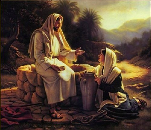 Jesus missionary-Savior Jesus-DIY Painting Art Paint works Paint By Number 16x20 inch(With wood Frame)