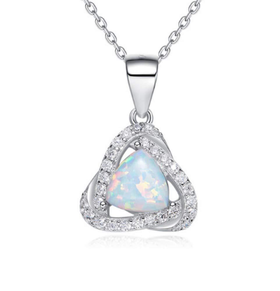 QWERST女性ネックレススターリングシルバー宝石ペンダントファッションエレガントシンプル絶妙なネックレス最高の贈り物   B07MJNZ67P