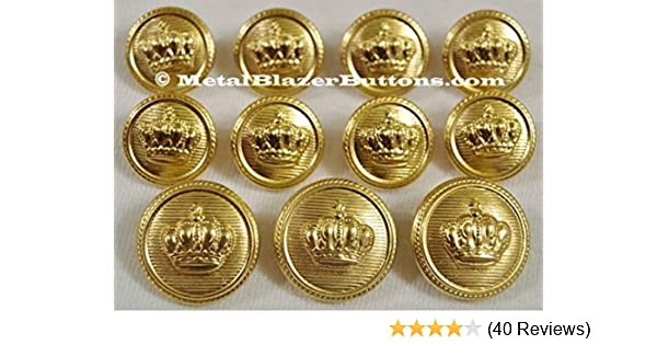 9 Polished Fine  Gold  Button Set