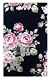 Flowers Fabric Waitstaff Organizer, Guest Check Presenter for Restaurant, Credit Card Holder, Check Book Cover, Check Register for Hotel, Server Book for Waiter and Waitress, Check Pad holder