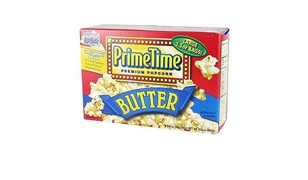 Prime Time palomitas de microondas sabor a mantequilla 3p: Amazon ...