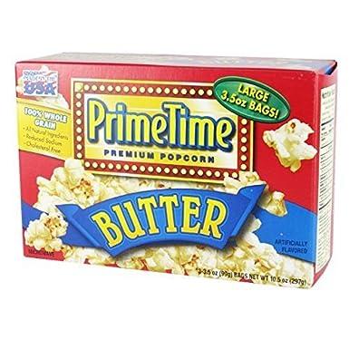 Prime Time palomitas de microondas sabor a mantequilla 3p ...