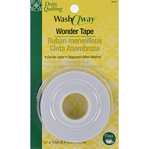 Dritz Quilting Washaway Wonder Tape, 1/4 by 10-Yard