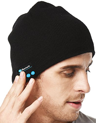 XIKEZAN Unisex Bluetooth Beanie Smart Winter Knit Hat V4.1 Wireless Musical Headphones Earphones w/ 2 Speakers Beanies Hats Cap Unique Christmas Tech Gifts for Teen Young Boys Girls Men Women