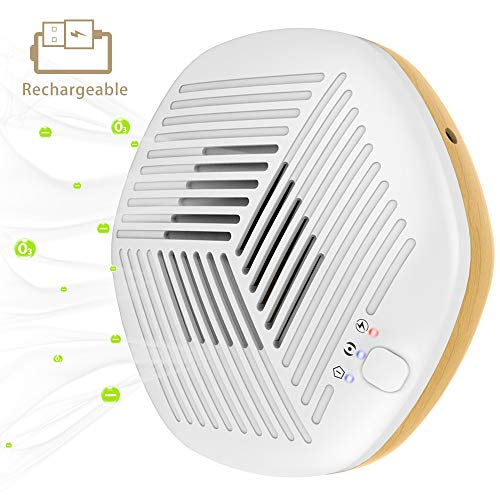 FORTGESCHE Air Purifier Mini Ozone Generator Eliminator for Home, Portable Air Cleaner with 3200mAh USB Rechargeable, Suitable for Car, Office, Bedroom