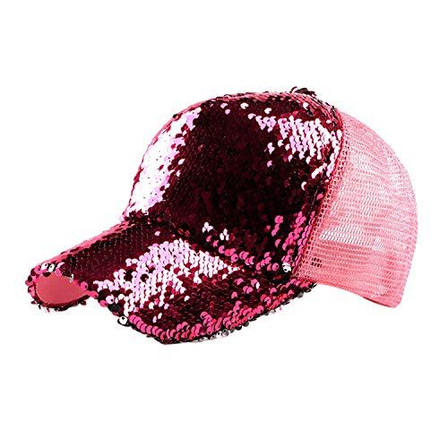 (CHENTAI Mesh Print Hat Unisex Outdoor Casual Hat Visor Spring Summer Autumn Sequin Baseball Cap)