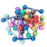 """Tongue Ring Lot of 20pc Anodized Titanium 5/8"""" 16mm 14g"""