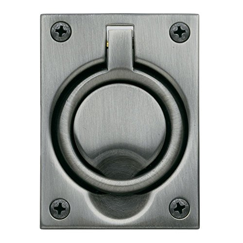 Baldwin 0395151 Flush Ring Pull, Antique Nickel -
