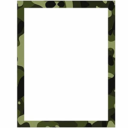 amazon com camouflage stationery letter paper military theme