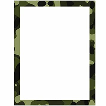 amazon com camouflage stationery letter paper military theme rh amazon com pink camouflage border clip art pink camouflage border clip art