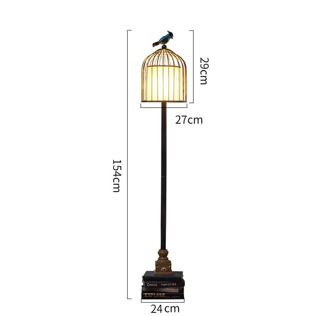Lámpara de pie americana Sala de estar Dormitorio Lámpara de ...