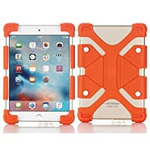 Tsmine RCA Viking Pro/Cambio W101 V2 Tablet Silicone ShockProof case -Universal Elastic Stand Soft Skin Cover,Orange