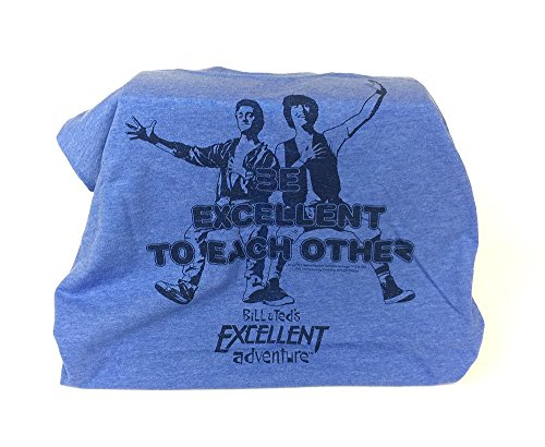 (Loot Crate  October 2015 Time Travel Lootcrate Bill and Teds Excellent Adventure TShirt Mens, XLarge , Blue)