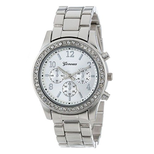 Womens Quartz Watch,COOKI Unique Analog Fashion Clearance Lady Watches Female watches on Sale Casual Wrist Watches for Women,Round Dial Case Comfortable Metal Watch-H06 - Sale On Glasses