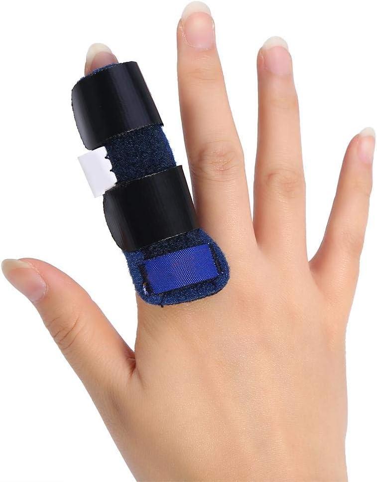 Férula del Dedo, Dedo Extensión Férula para Dedo en Gatillo,Lanzamiento del Tendón del Dedo y Correa de Fijación del Alivio del Dolor con Ayuda de Aluminio Incorporada