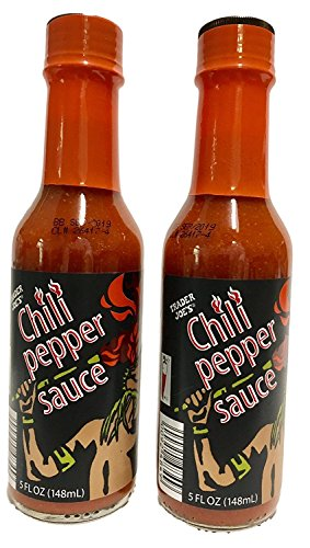 Trader Joes Chili Pepper Sauce, 2 Bottles, 5 Ounces Each (Habanero Pepper Chili Chile)