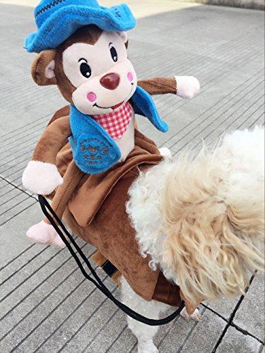 MUST ROSE SPORTS AND HOMEWEAR Riding Horse Dog Costume Novelty Funny Party Pet Dog Costume Large Dog Clothes Monkey Clothing(Large, Blue) -