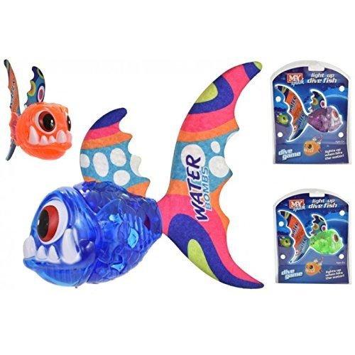 Allumez le poisson de plongée, jouet de natation de plongée une couleur aléatoire fournie