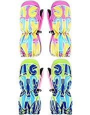 SATINIOR 2 Pairs Kids Winter Snow Glove Girls Cute Ski Glove Waterproof Warm Mitten for Cold Weather