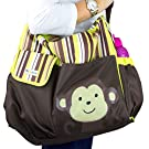 *FLASH SALE* NimNik Baby Premium Diaper Tote Bag Green w/ Changing Mat, Designer Diapers Bag for Girls Boys Twins, Shower Gifts for Mom Dad