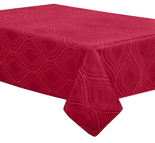 Creative Dining Group Ogee Dot Heavy Weight Tablecloth, 60 b