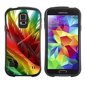 Suave TPU Caso Carcasa de Caucho Funda para Samsung Galaxy S5 SM-G900 / Rainbow 3D Art Spikes Hair / STRONG
