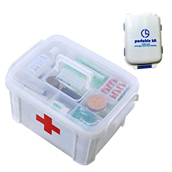 Shrxy Portable First Aid Kit Medical Multifunctional ...