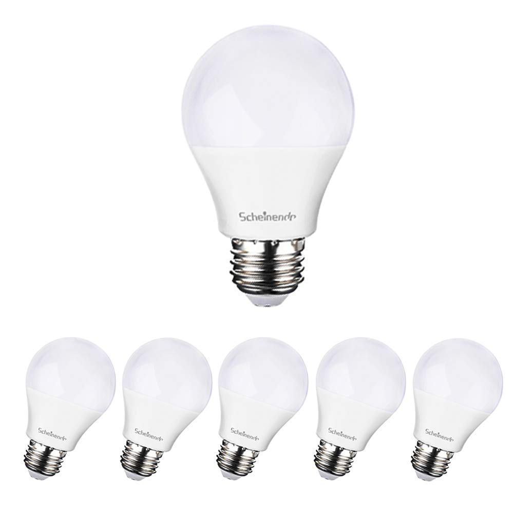 Living Room 60w Equivalent Warm White 3000K /& 800Lm Non-dimmable LED Light Bulbs Medium Base(E26) for Home Bedroom /& Ceiling Fixture Scheinenda A19 LED Bulb 6 Pack Kitchen