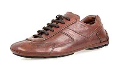 a97f9fc2b8f89 Amazon.com | Prada Men's 4E2781 8QW F0003 Brown Leather Sneaker EU ...