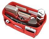 Women's Purse Organzier Sturdy Felt Handbag Liner Insert Bag Red M