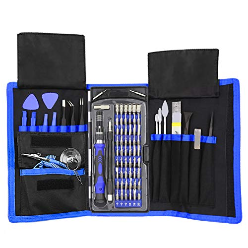 XOOL 80 in 1 Precision Screwdriver Set with Magnetic Driver Kit, Professional Electronics Repair Tool Kit with Portable Oxford Bag for Repair Cell Phone, iPhone, iPad, Watch, Tablet, PC, MacBook (Electronic Tool Repair Kit)