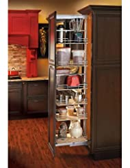 Rev A Shelf Tall Pullout Maple Pantry 14 3 4 Width Organizer Chrome