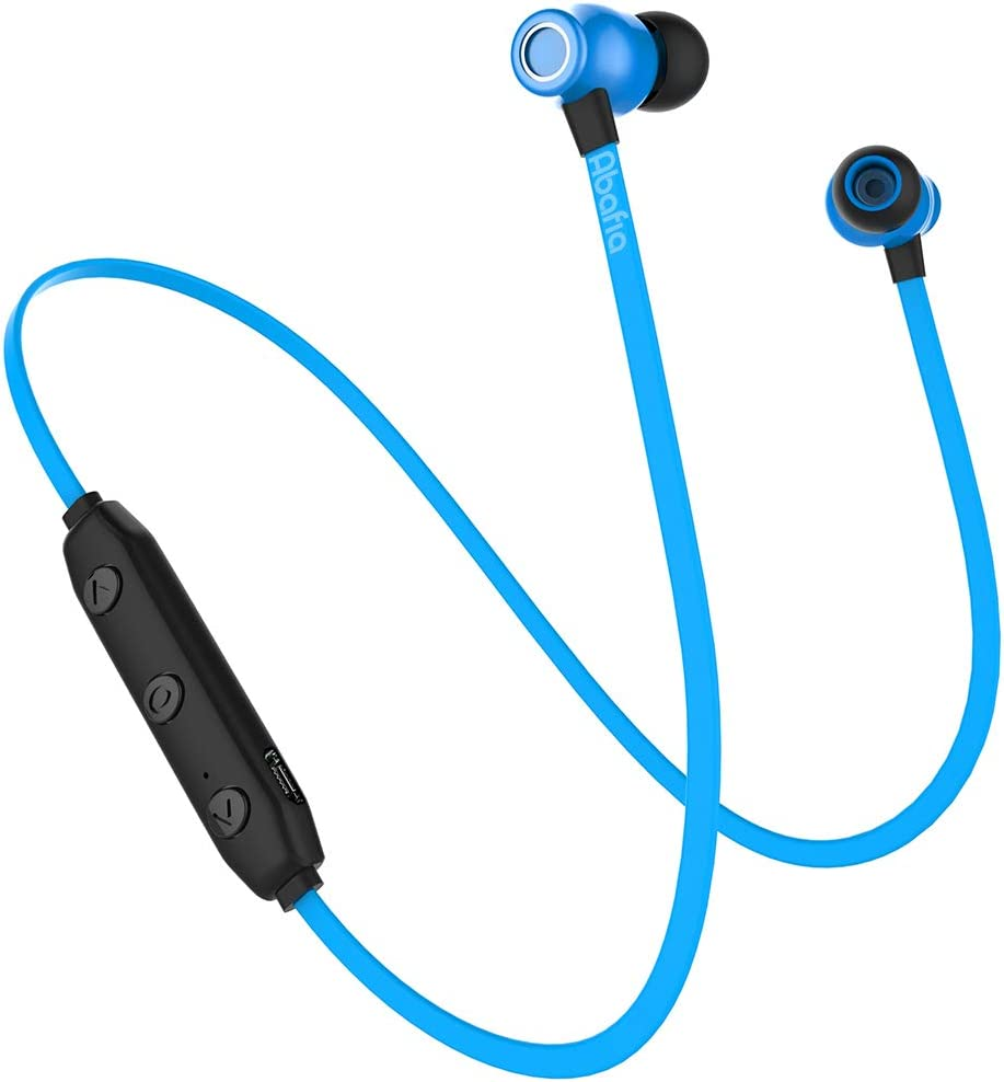 Abafia Auriculares Bluetooth, Auricular Deportivo Inalámbricos Auriculares Bluetooth V5.0 con Magnética Diseño In-Ear para iPhone XR/XS/Huawei P30 / P30 Pro/Samsung S9 / S8 / Xiaomi (Azul)