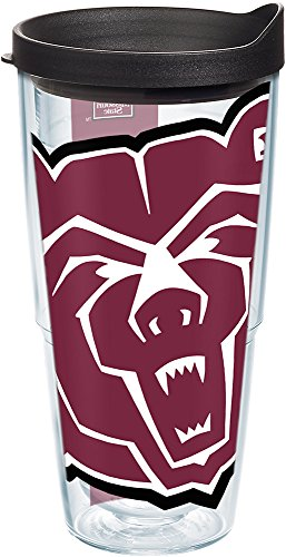 - Tervis 1205091 Missouri State Bears Mascot Colossal Tumbler with Wrap and Black Lid 24oz, Clear