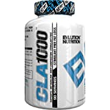 Evlution Nutrition CLA1000 Conjugated linoleic acid (90 Serving, Soft Gels) Exercise Enhancement & Weight Loss Supplement, Stimulant-Free