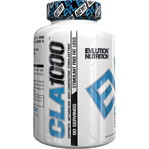 Evlution Nutrition - CLA 1000 Conjugated linoleic acid, 90 Serving Soft Gel, Weight Loss Supplement, Stimulant-Free